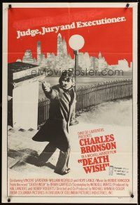 9p387 DEATH WISH Aust 1sh '74 vigilante Charles Bronson is the judge, jury, and executioner!