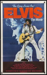 9p389 ELVIS roadshow Aust 1sh '79 Kurt Russell as Presley, directed by John Carpenter, rock & roll!