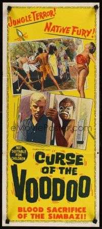 9p578 CURSE OF THE VOODOO Aust daybill '65 Bryant Haliday, Dennis Price, jungle thriller!