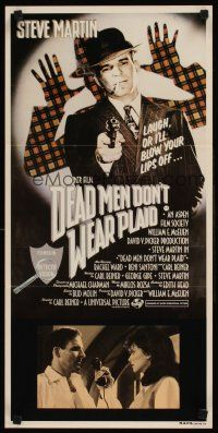 9p590 DEAD MEN DON'T WEAR PLAID Aust daybill '82 Steve Martin will blow your lips off!