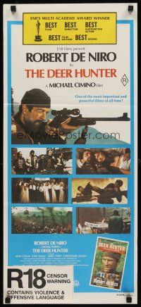 9p594 DEER HUNTER Aust daybill '78 Robert De Niro classic, directed by Michael Cimino!