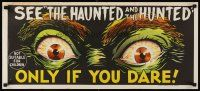 9p596 DEMENTIA 13 teaser Aust daybill '63 Francis Ford Coppola, The Haunted & the Hunted!