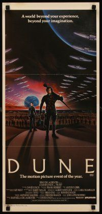 9p607 DUNE Aust daybill '84 David Lynch sci-fi epic, art of a world beyond imagination!