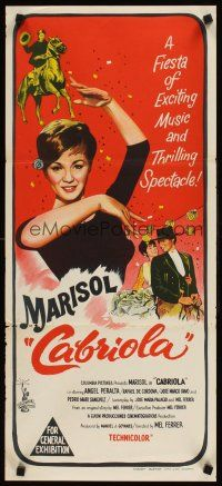 9p612 EVERY DAY IS A HOLIDAY Aust daybill '65 Mel Ferrer, stone litho art of pretty Marisol!