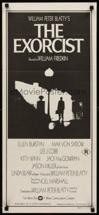 9p614 EXORCIST Aust daybill '74 William Friedkin, Max Von Sydow, William Peter Blatty horror!