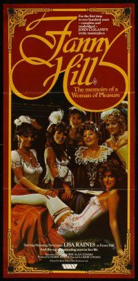 9p618 FANNY HILL Aust daybill '83 memoirs of a woman of pleasure, different sexy image!