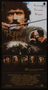 9p843 ROBIN HOOD Aust daybill '91 Patrick Bergin in the title role, Uma Thurman as Marian!