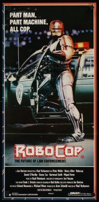 9p845 ROBOCOP Aust daybill '87 Paul Verhoeven classic, Peter Weller is part man, part machine!