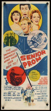 9p862 SENIOR PROM Aust daybill '58 Louis Prima, Tom Laughlin, loving, laughing, swinging & singing!