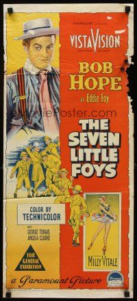 9p863 SEVEN LITTLE FOYS Aust daybill '55 Richardson Studio art of Bob Hope with his seven kids!