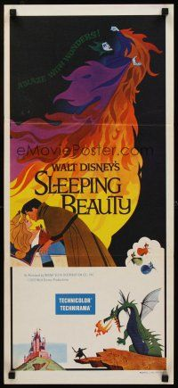 9p871 SLEEPING BEAUTY Aust daybill R71 Walt Disney cartoon fairy tale fantasy classic!