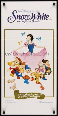 9p874 SNOW WHITE & THE SEVEN DWARFS Aust daybill R87 Walt Disney animated cartoon fantasy classic!