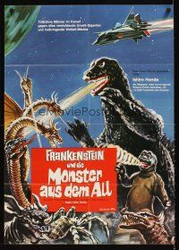 9p256 DESTROY ALL MONSTERS German '71 Ishiro Honda's Kaiju Soshingeki, Godzilla, King Ghidrah!