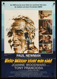 9p258 DROWNING POOL German '76 cool different artwork of Paul Newman as private eye Lew Harper!