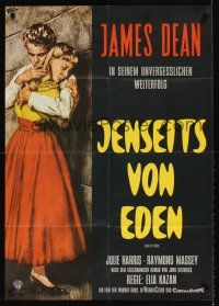 9p259 EAST OF EDEN German R70s first James Dean, John Steinbeck, directed by Elia Kazan!