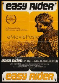 9p260 EASY RIDER German R70s Peter Fonda, motorcycle biker classic directed by Dennis Hopper!