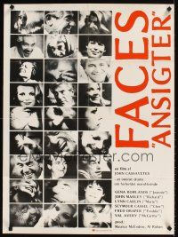 9p261 FACES German '68 John Cassavetes cult classic, Gena Rowlands, Seymour Cassel!