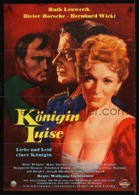 9p282 QUEEN LUISE German '57 Konigin Luise, Engel art of pretty Ruth Leuwerik in the title role!