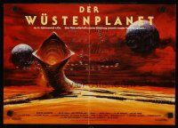 9p242 DUNE German 12x19 '84 David Lynch sci-fi epic, Berkey art of desert planet & worm!