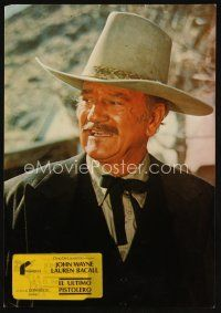 9p083 SHOOTIST Spanish LC '78 cool image of cowboy John Wayne in his last big screen role!
