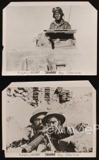 9p011 SAHARA 4 Swedish 8x10.25 stills '43 cool action images of World War II soldiers in desert!