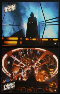9p123 EMPIRE STRIKES BACK 10 style A French LCs '80 George Lucas, cool scenes from sci-fi classic!