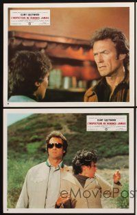 9p161 ENFORCER 8 set 1 French LCs '77 Clint Eastwood as Dirty Harry, Tyne Daly!