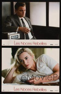 9p214 REVOLUTIONARY ROAD 4 French LCs '08 romantic images of Leonardo DiCaprio & Kate Winslet!