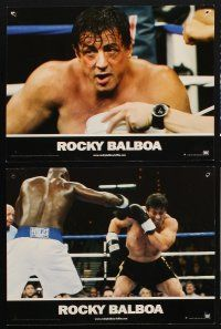 9p203 ROCKY BALBOA 6 French LCs '07 boxing sequel, director & star Sylvester Stallone!