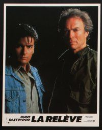 9p179 ROOKIE 8 French LCs '91 Clint Eastwood directs & stars w/Charlie Sheen!