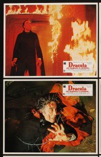 9p132 SATANIC RITES OF DRACULA 10 French LCs '78 Christopher Lee as the vampire, Peter Cushing!