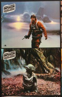 9p364 EMPIRE STRIKES BACK 6 German LCs '80 George Lucas sci-fi classic, Mark Hamill, Yoda!