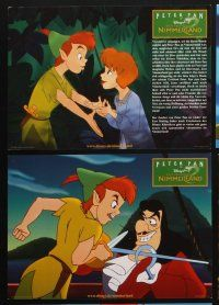 9p351 RETURN TO NEVERLAND 8 German LCs '02 Peter Pan, Tinkerbell, Captain Hook, Disney sequel!