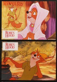 9p366 ROBIN HOOD 6 German LCs '73 Walt Disney's cartoon version, the way it REALLY happened!