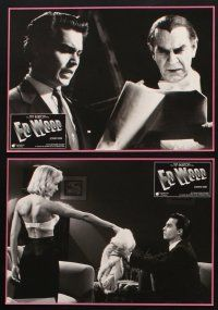 9p329 ED WOOD 8 German LCs '95 Tim Burton, Johnny Depp as the worst director ever, mostly true!