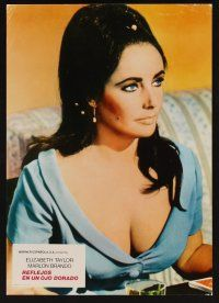 9p075 REFLECTIONS IN A GOLDEN EYE 2 Spanish LCs R78 Huston, cool images of pretty Elizabeth Taylor!