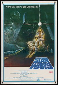 9t012 STAR WARS 2nd printing Aust 1sh '77 George Lucas classic sci-fi epic, great art by Jung!