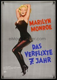 9t055 SEVEN YEAR ITCH German R70s Billy Wilder, great sexy art of Marilyn Monroe!