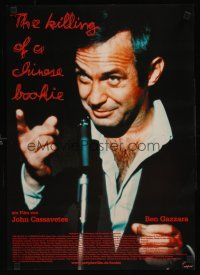 9t061 KILLING OF A CHINESE BOOKIE German 16x23 R90s John Cassavetes, close-up of Ben Gazzara!