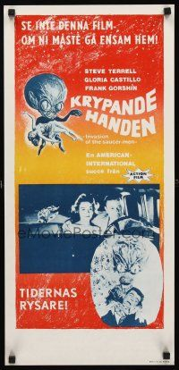 9t031 INVASION OF THE SAUCER MEN Swedish stolpe '57 best images of cabbage head aliens & sexy girl