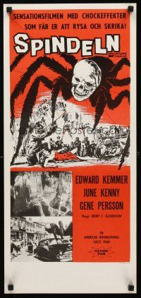 9t032 SPIDER Swedish stolpe '58 Bert I. Gordon horror, it MUST eat YOU to live!