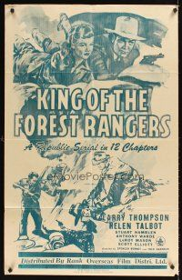 9t017 KING OF THE FOREST RANGERS Trinidadian '46 Larry Thompason, Helen Talbot, serial!