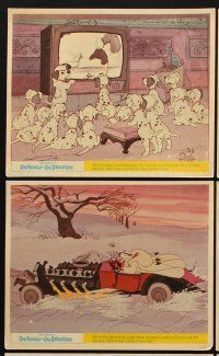 9y053 ONE HUNDRED & ONE DALMATIANS 7 color English FOH LCs '61 classic Walt Disney canine cartoon!
