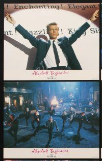 9y002 ABSOLUTE BEGINNERS 8 color English FOH LCs '86 David Bowie stars in the musical!