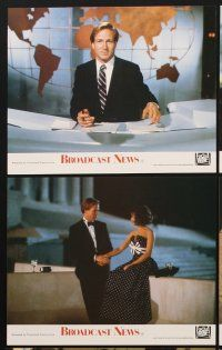 9y004 BROADCAST NEWS 8 color English FOH LCs '87 William Hurt, Holly Hunter & Albert Brooks!