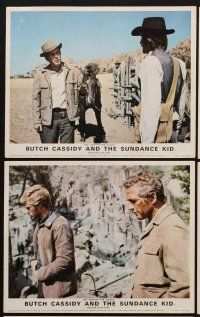 9y056 BUTCH CASSIDY & THE SUNDANCE KID 6 color English FOH LCs '69 Robert Redford, Paul Newman
