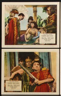 9y057 CARRY ON CLEO 6 color English FOH LCs '65 Sidney James, Kenneth Williams, sex on the Nile!