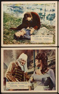 9y005 CURSE OF THE WEREWOLF 8 color English FOH LCs '61 Hammer, Oliver Reed, Terence Fisher