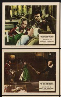 9y007 DEVIL-SHIP PIRATES 8 color English FOH LCs '64 Hammer, Christopher Lee, Andrew Kier!