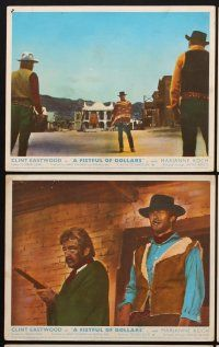9y048 FISTFUL OF DOLLARS 7 color English FOH LCs '67 Sergio Leone, Clint Eastwood classic!